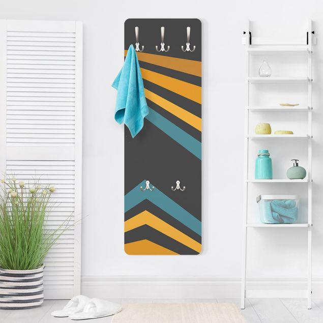 Garderobe - Parallelecken in Gelb und Blau