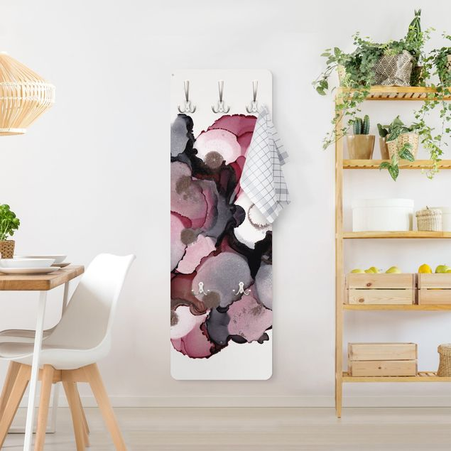 Garderobe - Pink-Beige Tropfen mit Roségold