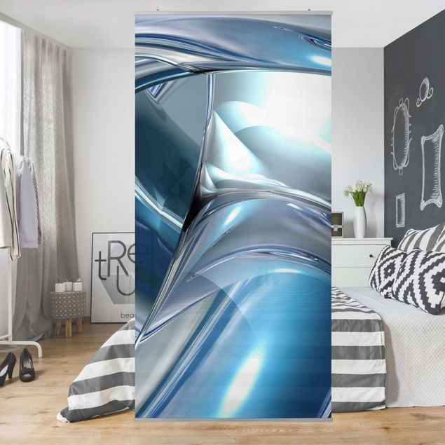 Raumteiler - Cold Steel 250x120cm