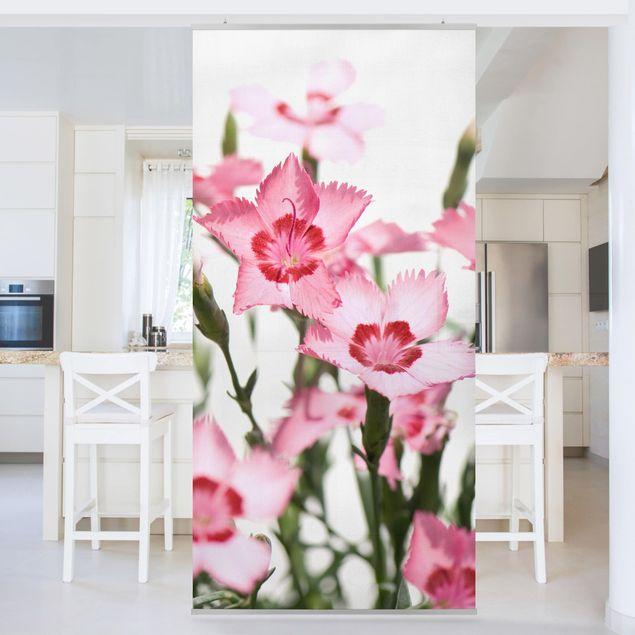 Raumteiler - Pink Flowers 250x120cm