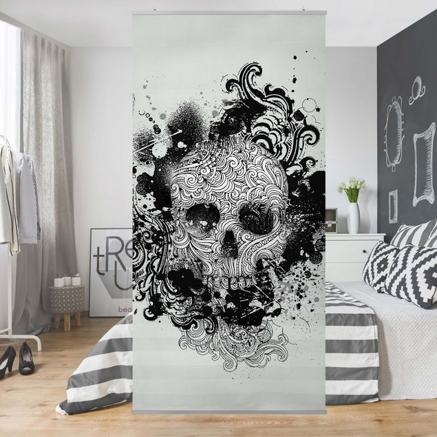Raumteiler - Skull 250x120cm