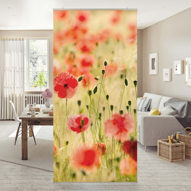 Raumteiler - Summer Poppies 250x120cm