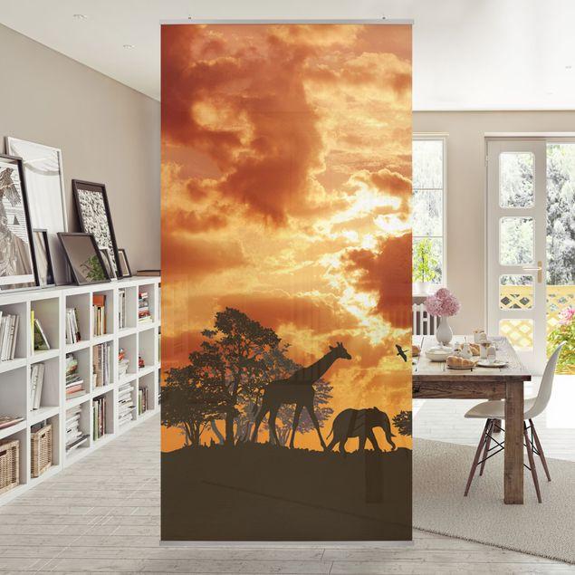 Raumteiler - Tanzania Sunset 250x120cm