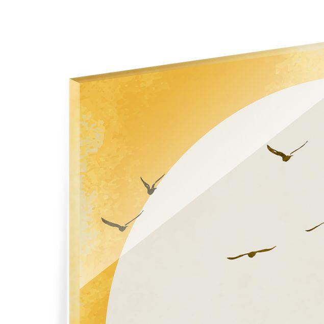 Spritzschutz Glas - Reise zur ewigen Sonne - Quadrat 1:1