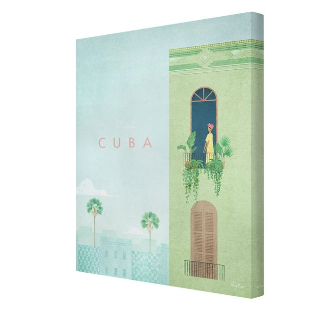 Leinwandbild - Reiseposter - Cuba - Hochformat 3:4