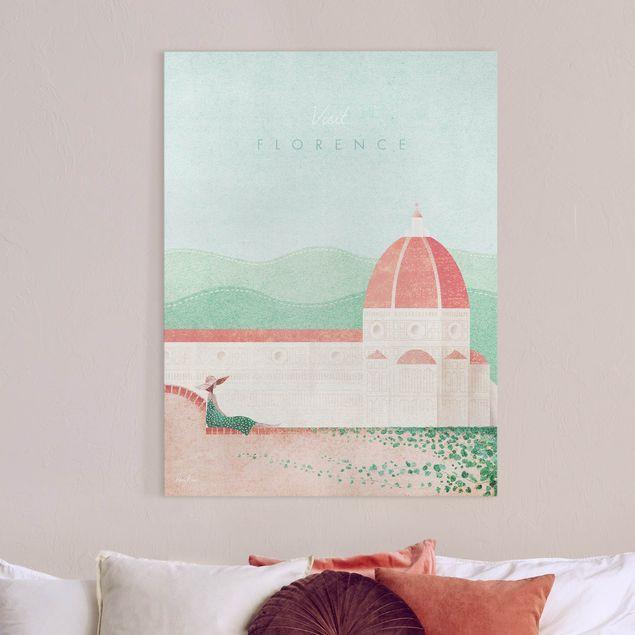 Leinwandbild - Reiseposter - Florence - Hochformat 3:4