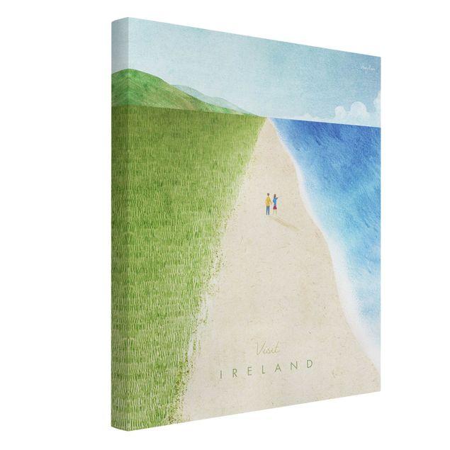 Leinwandbild - Reiseposter - Ireland - Hochformat 3:4