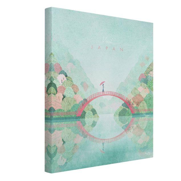 Leinwandbild - Reiseposter - Japan Autumn - Hochformat 3:4