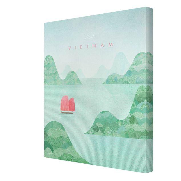 Leinwandbild - Reiseposter - Vietnam - Hochformat 3:4