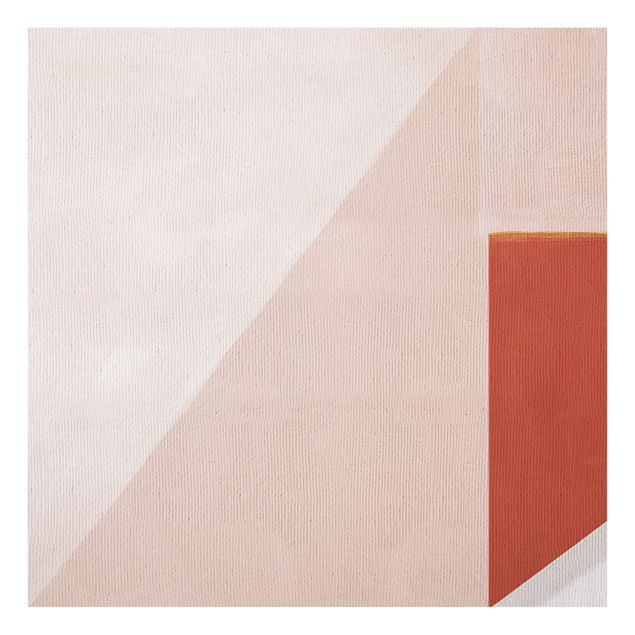 Spritzschutz Glas - Rosa Geometrie - Quadrat 1:1