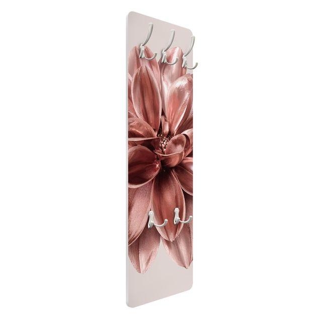 Garderobe - Rosegoldene Dahlie in Metallic
