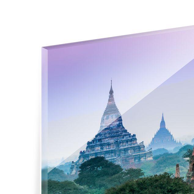 Spritzschutz Glas - Sakralgebäude in Bagan - Querformat 2:1