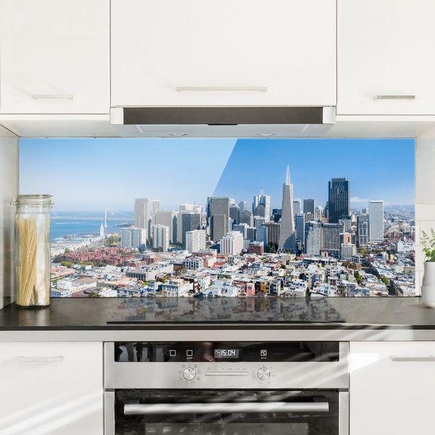 Spritzschutz Glas - San Francisco Skyline - Panorama 5:2