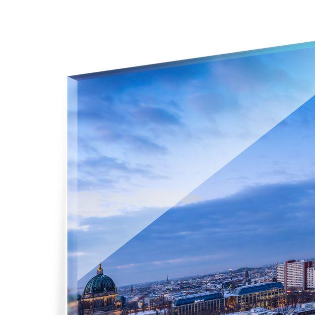 Spritzschutz Glas - Schnee in Berlin - Querformat 4:3