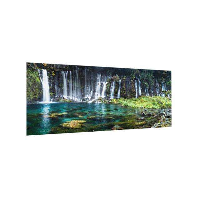 Spritzschutz Glas - Shiraito Wasserfall - Panorama 5:2