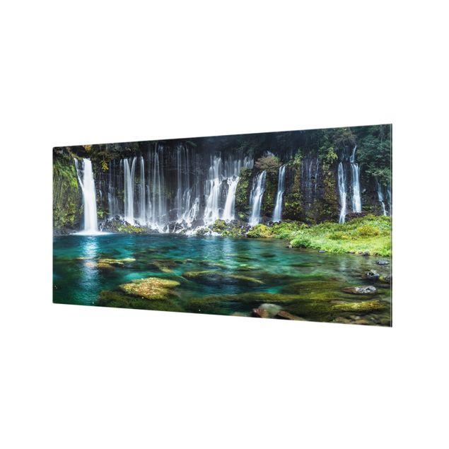 Spritzschutz Glas - Shiraito Wasserfall - Querformat 2:1