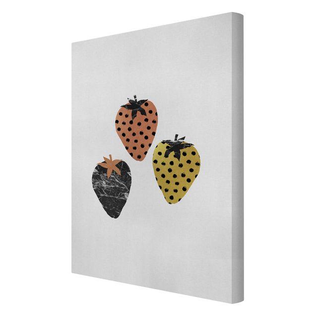 Leinwandbild - Skandinavische Erdbeeren - Hochformat 2:3