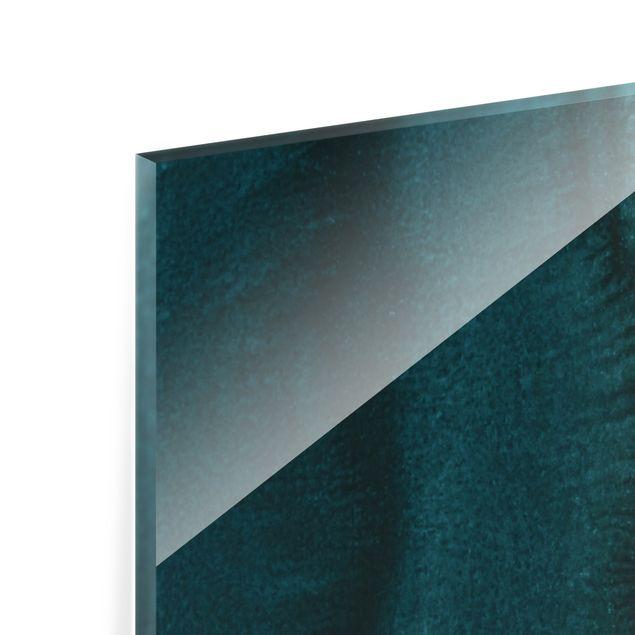 Spritzschutz Glas - Spiel der Farben Meeresrauschen - Querformat 2:1