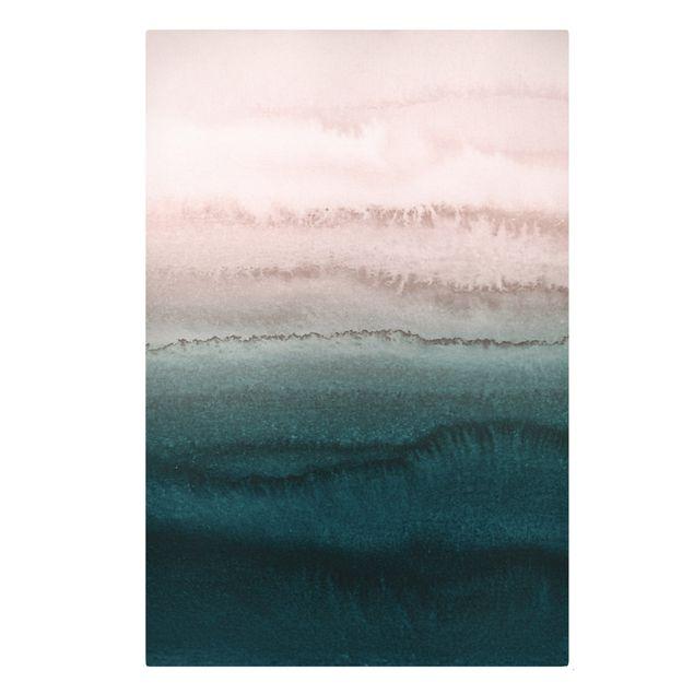 Leinwandbild - Spiel der Farben Meeresrauschen - Hochformat 2:3