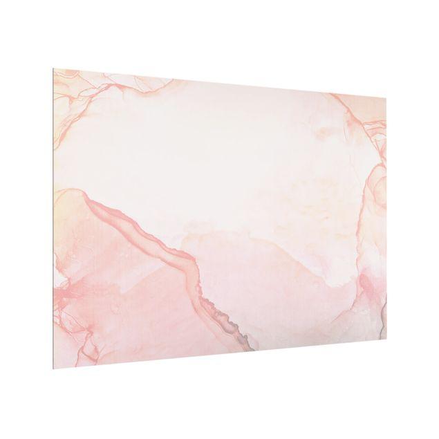 Spritzschutz Glas - Spiel der Farben Pastell Zuckerwatte - Querformat 4:3