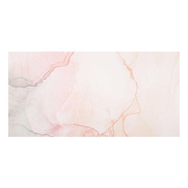 Spritzschutz Glas - Spiel der Farben Pastell Zuckerwatte - Querformat 2:1