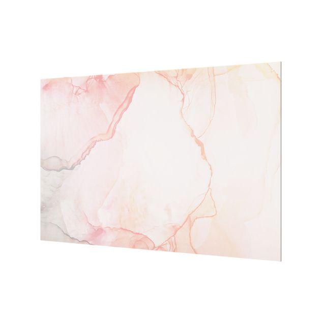 Spritzschutz Glas - Spiel der Farben Pastell Zuckerwatte - Querformat 3:2