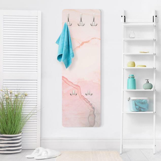 Garderobe - Spiel der Farben Pastell Zuckerwatte