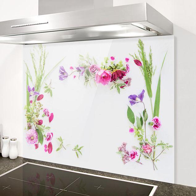 Spritzschutz Glas - Blumenarrangement - Querformat 4:3