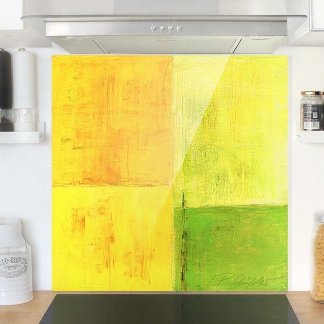 Spritzschutz Glas - Frühlings Komposition 02 - Quadrat 1:1