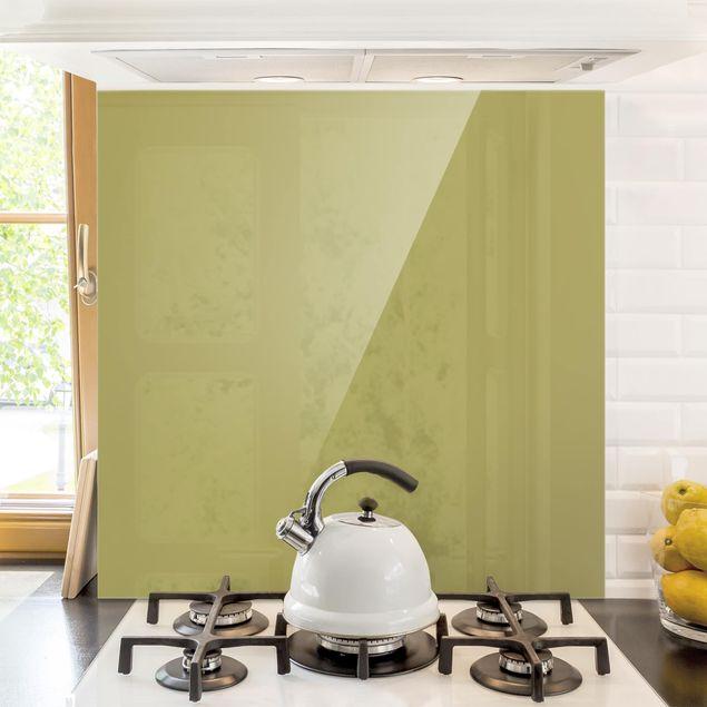 Spritzschutz Glas - Lindgrün Bambus - Quadrat 1:1