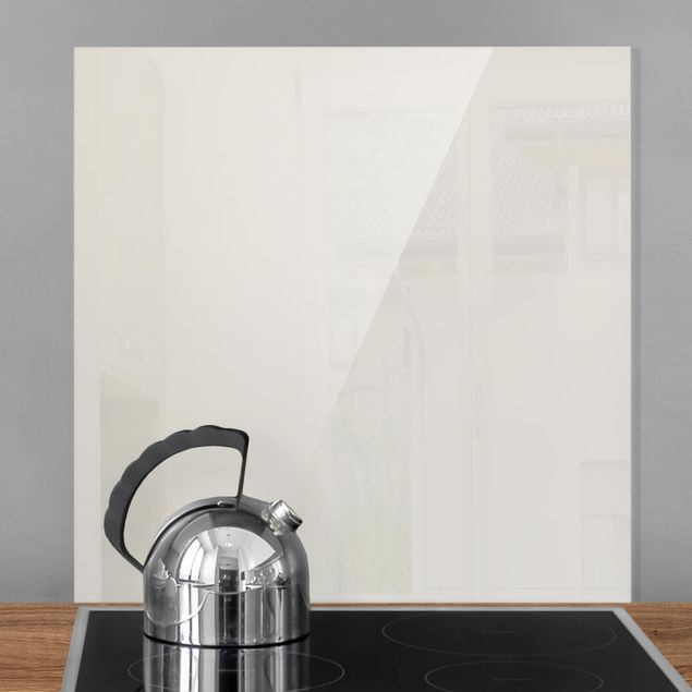 Spritzschutz Glas - Meersand - Quadrat 1:1