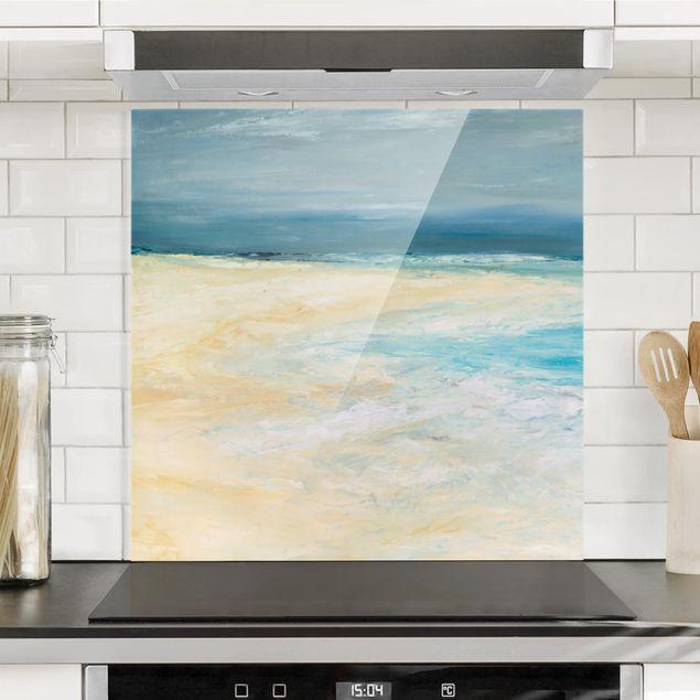Spritzschutz Glas - Sturm auf dem Meer I - Quadrat 1:1