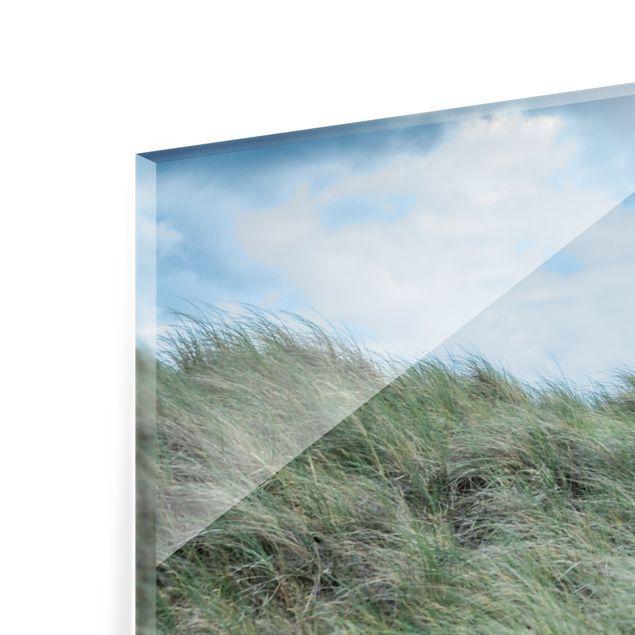 Spritzschutz Glas - Stürmische Zeiten am Leuchtturm - Querformat 3:2