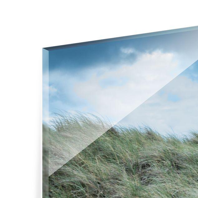 Spritzschutz Glas - Stürmische Zeiten am Leuchtturm - Querformat 4:3