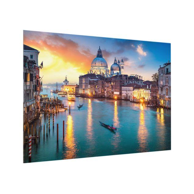 Spritzschutz Glas - Sunset in Venice - Querformat 4:3