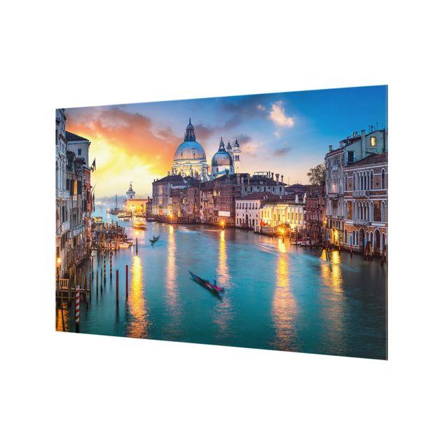 Spritzschutz Glas - Sunset in Venice - Querformat 3:2