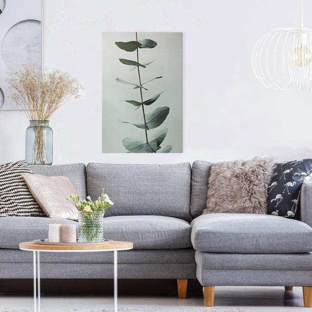 Leinwandbild - Symmetrischer Eukalyptuszweig - Hochformat 2:3