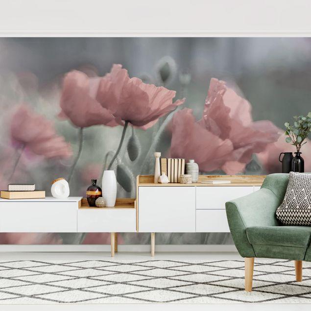 Fototapete - Malerische Mohnblumen