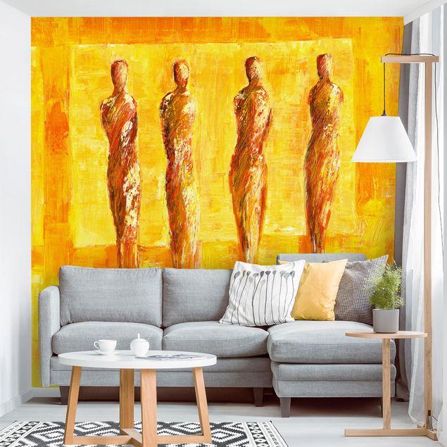 Fototapete - Petra Schüßler - Figuren in Gelb
