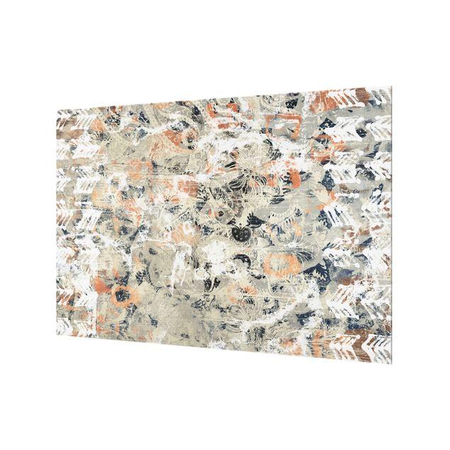 Spritzschutz Glas - Terracotta Collage II - Querformat 3:2