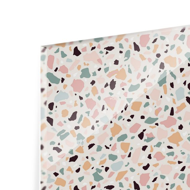 Spritzschutz Glas - Terrazzo Muster Napoli - Querformat 3:2
