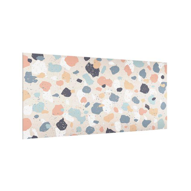 Spritzschutz Glas - Terrazzo Muster - Querformat 2:1
