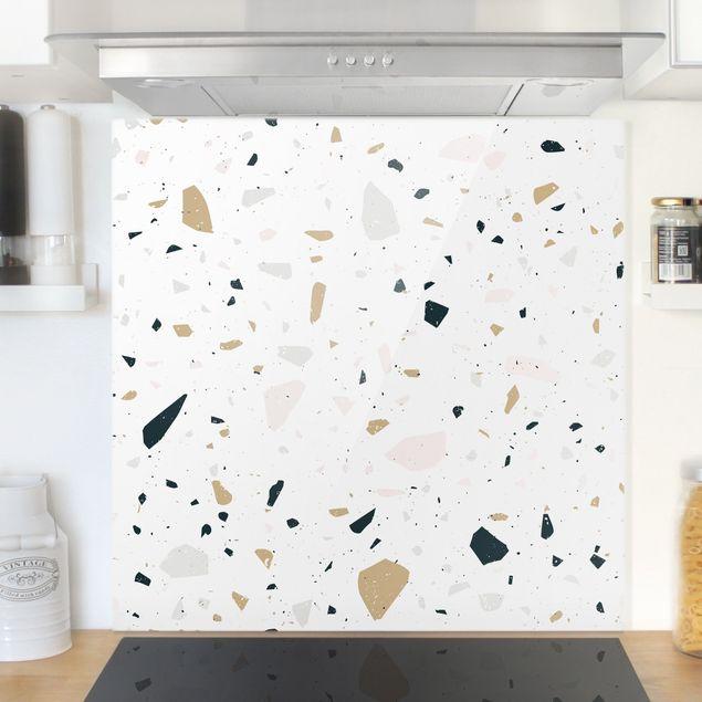 Spritzschutz Glas - Terrazzo Muster San Remo - Quadrat 1:1