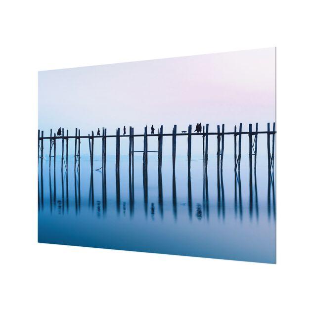Spritzschutz Glas - U-Bein Brücke in Myanmar - Querformat 4:3