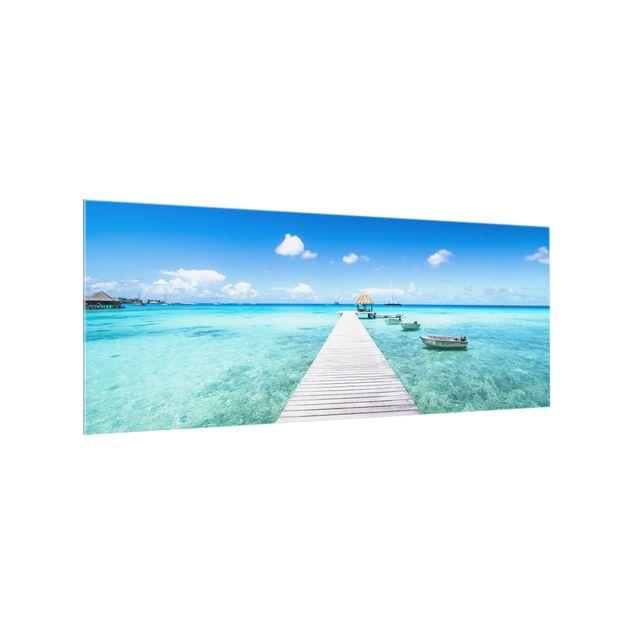 Spritzschutz Glas - Urlaub in den Tropen - Panorama 5:2