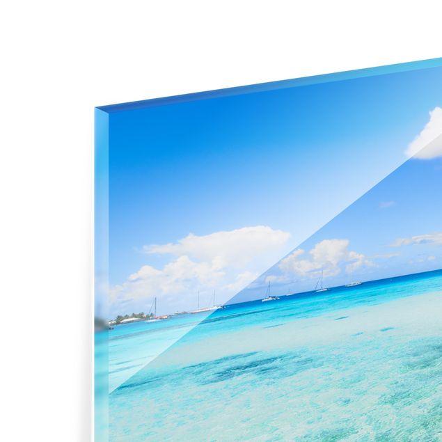 Spritzschutz Glas - Urlaub in den Tropen - Querformat 2:1