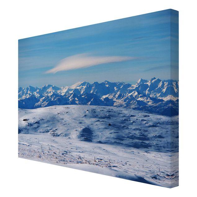 Leinwandbild - Verschneite Bergwelt - Querformat 4:3