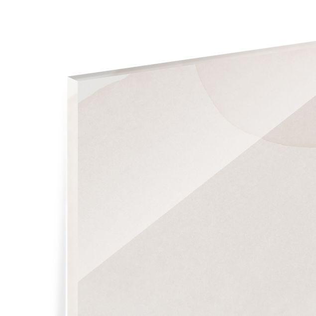 Spritzschutz Glas - Verspielte Impressionen mit goldenen Linien - Panorama 5:2