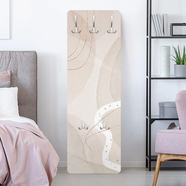 Garderobe - Verspielte Impressionen mit weißer Linie