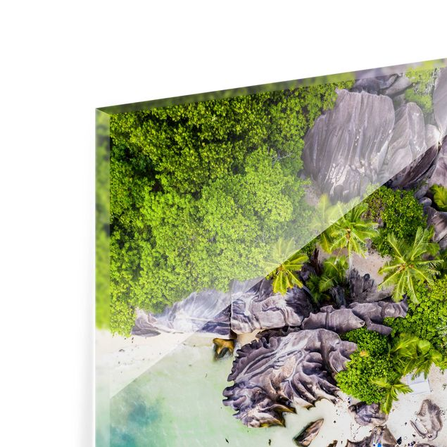 Spritzschutz Glas - Versteckter Strand - Quadrat 1:1